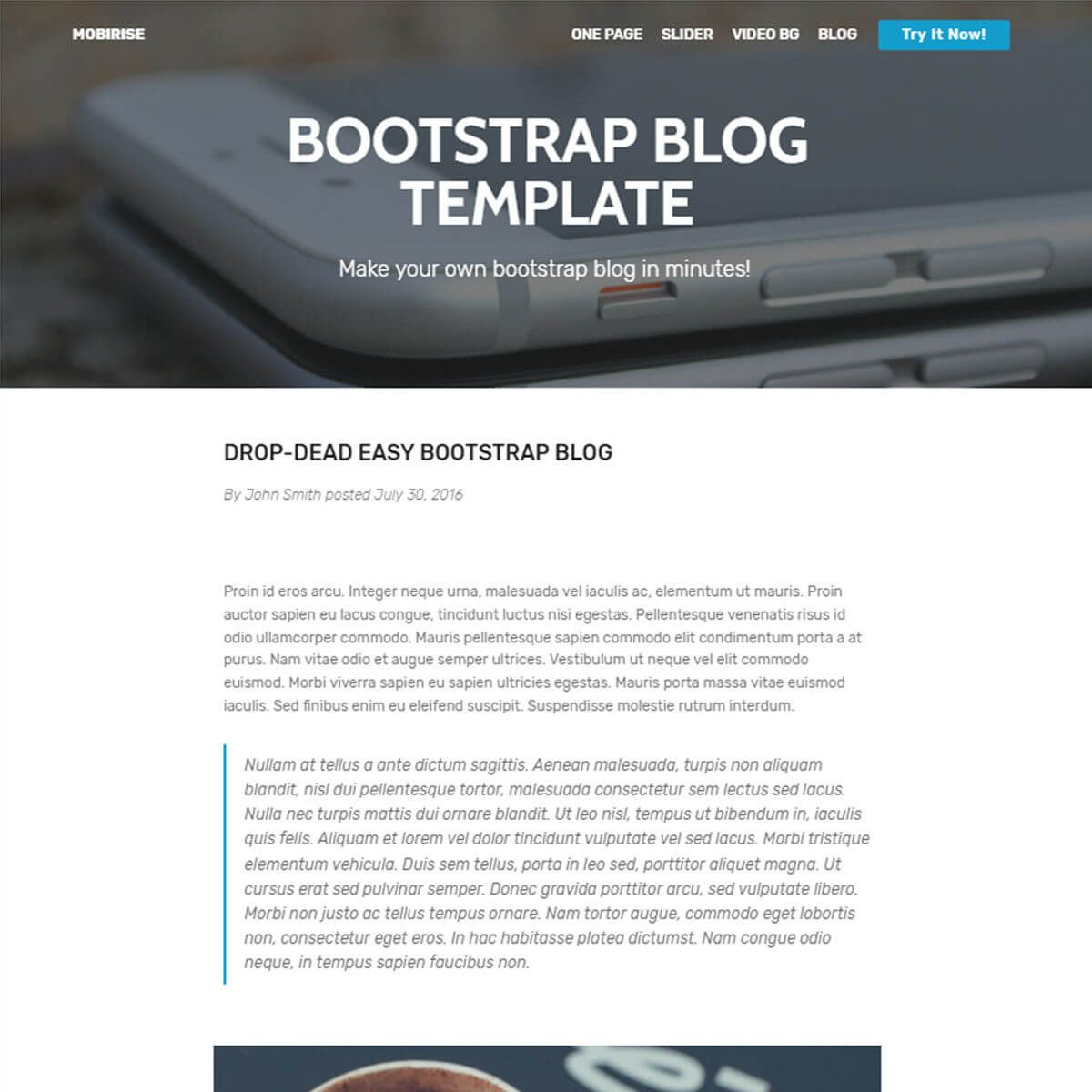 Html Bootstrap Blog Template Free Download Blog Template Blog Templates Free Templates
