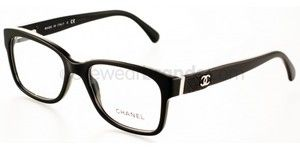 665f958c3d Chanel Eyeglasses Chanel 3246Q C 501 in Black w Quilted Leather Temples CC  Logo