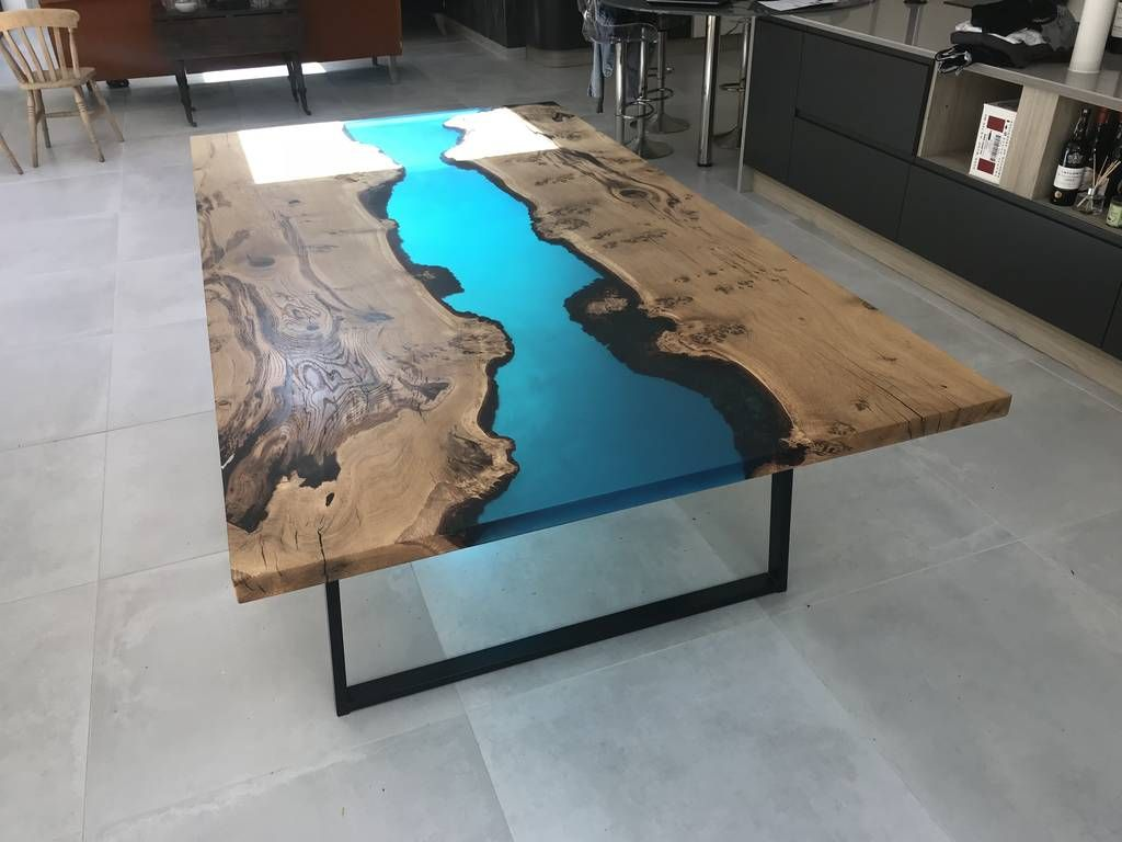 Resin River Dining Table Resin Table Slab Dining Tables Dining