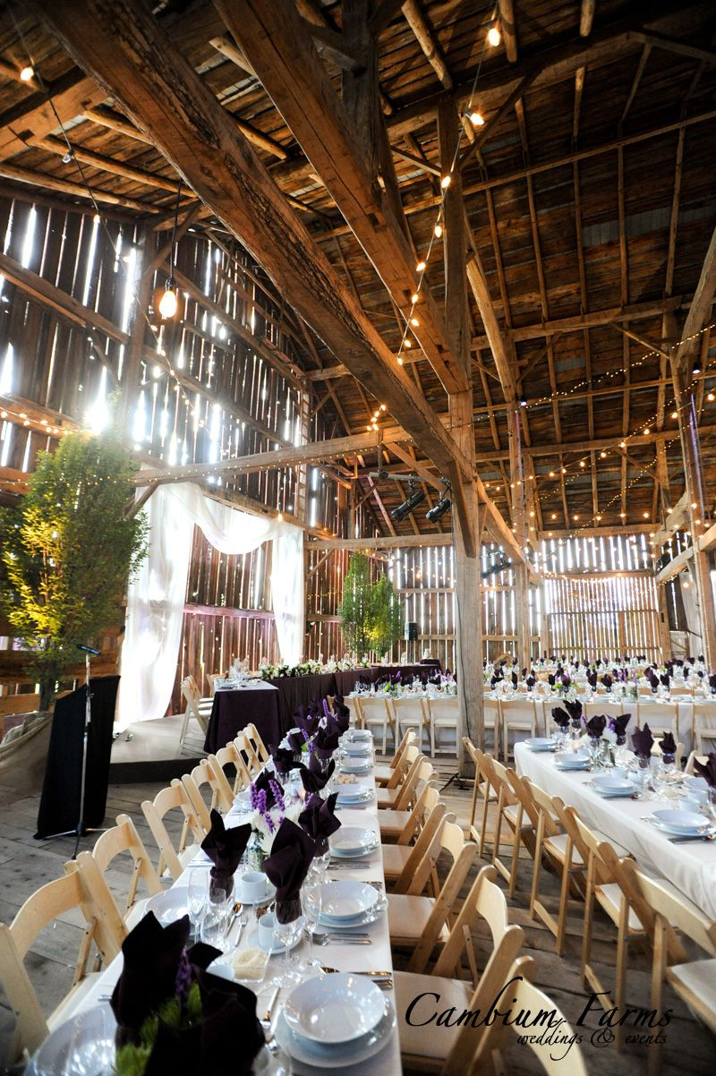 Beautiful Barn Venue With Exposed Beams Braces Posts And Rafters Wedding Venues OntarioCanadian