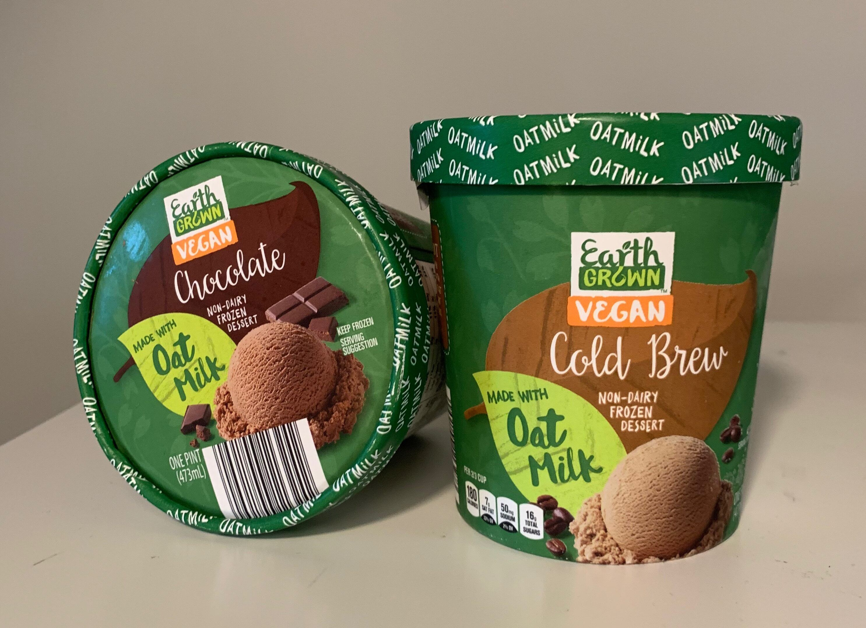 Earth Grown Vegan Non Dairy Frozen Dessert Oat Milk Frozen