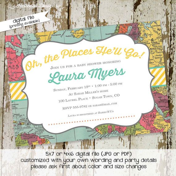 world traveler b-day. | sweet baby girl | pinterest | around the, Baby shower invitations