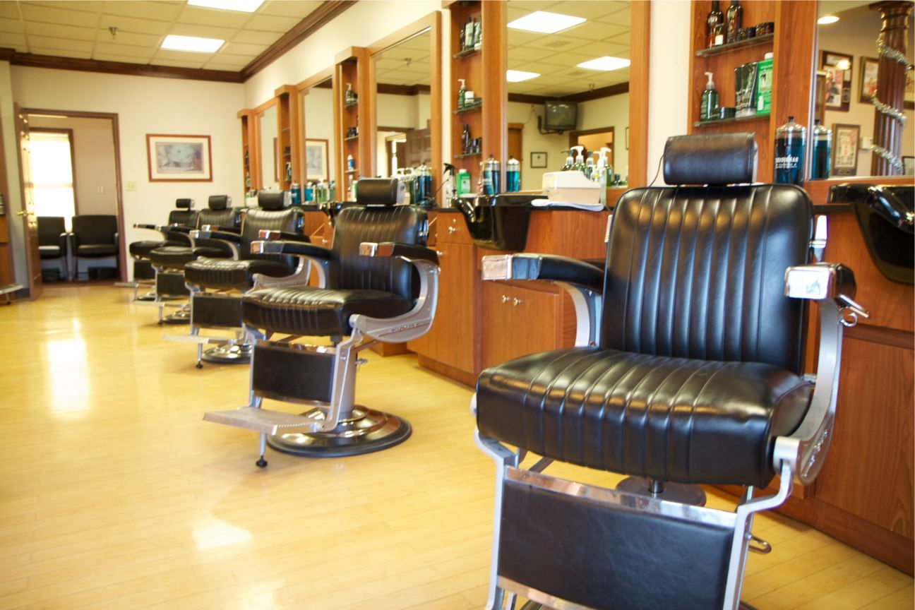 Interior, Barber Shop Design Layout Hair Salon Decorating ...