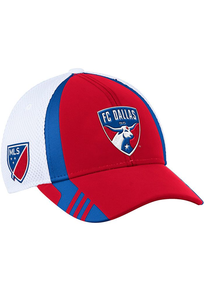 new style 77513 0f16f Adidas FC Dallas Mens Red 2017 Authentic Team Flex Hat, Red, 97%  POLYESTER 3% SPANDEX, Size L XL