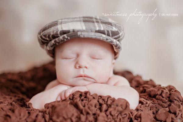 ee83a0116dbb19 Newborn flat cap. Newborn photo prop. Boys newsboy hat   Four Tiny ...