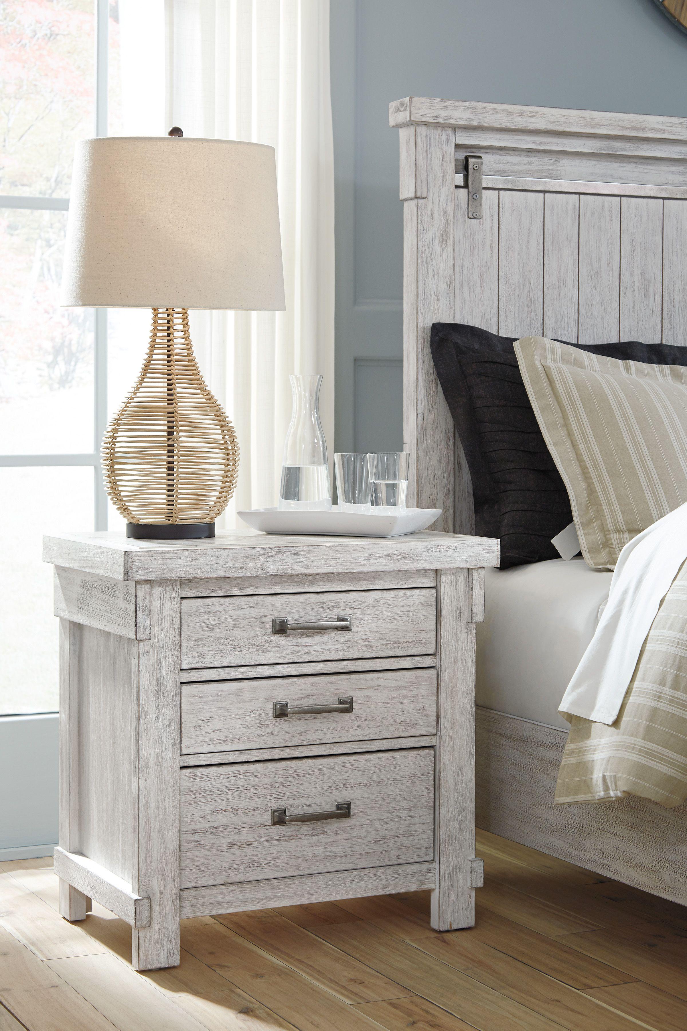 Brashland Three Drawer Nightstand White nightstand, 5