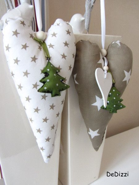 weihnachtsdeko  xxl stoffherz ★  ein designerstück von