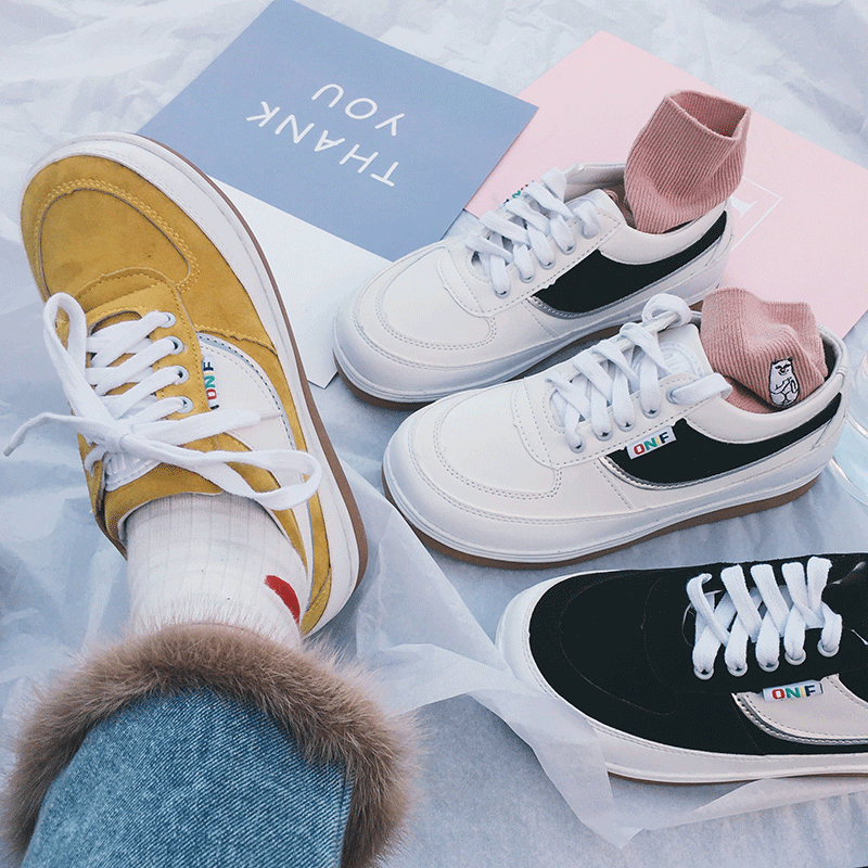 itGirl Shop SPORTISH CUTE COLORS LACEUP CASUAL SNEAKERS Aesthetic Apparel,  Tumblr Clothes, Soft Grunge