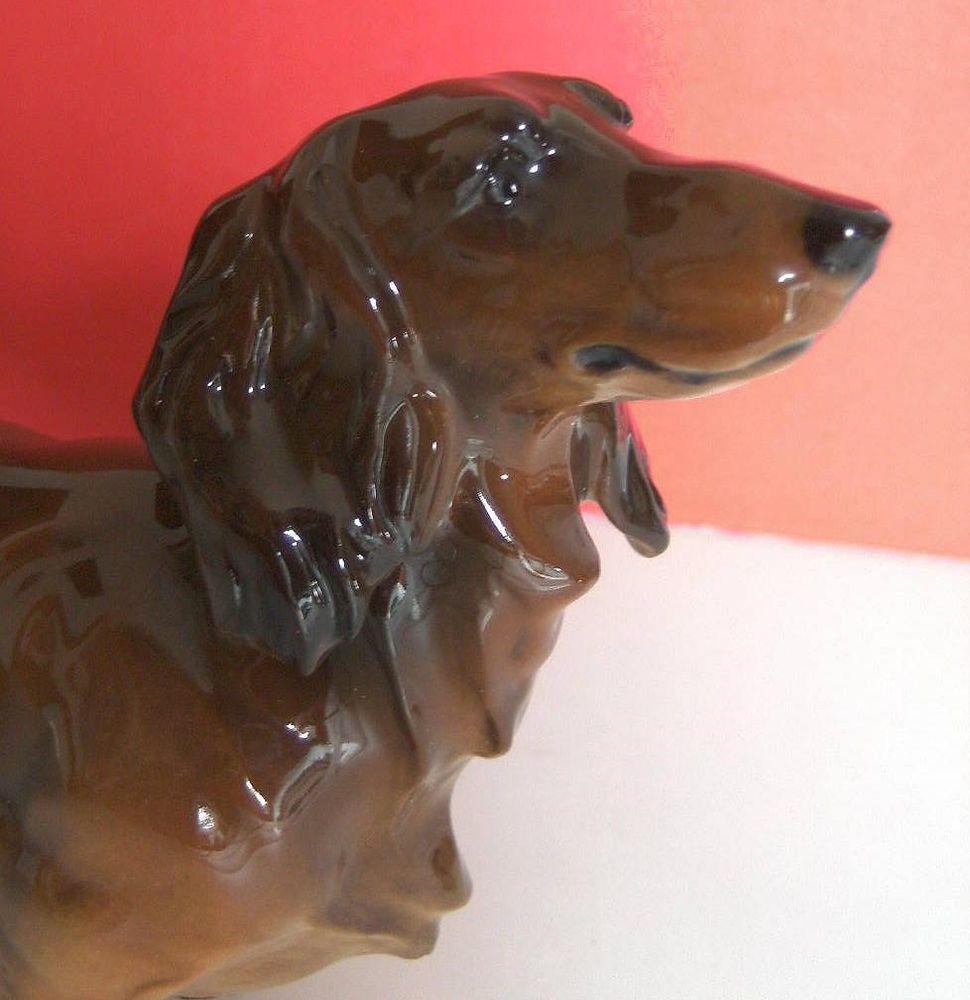 Lrg DACHSHUND TECKEL DACKEL porcelain dog figurine HUTSCHENREUTHER by ROSENTHAL  #HUTSCHENREUTHERGermany