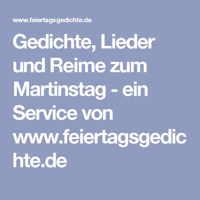 Gedichte Lieder Und Reime Zum Martinstag Ein Service Von Www Feiertagsgedichte De Reime Lieder Gedichte