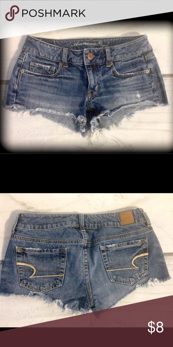 Jean shorts 5 pocket, fringe bottom. American Eagle Outfitters Shorts Jean Shorts