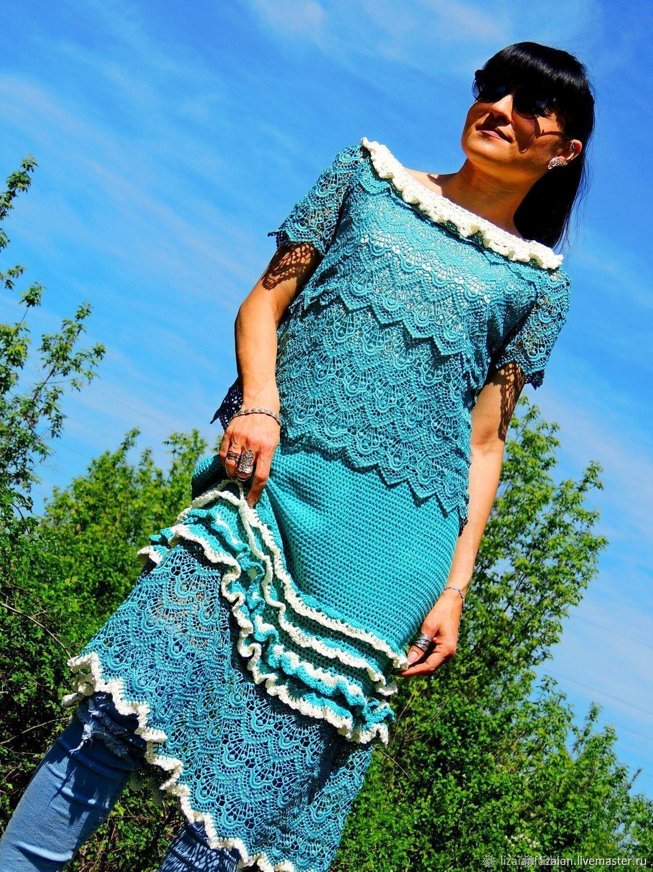 купить летнее платье с кружевом