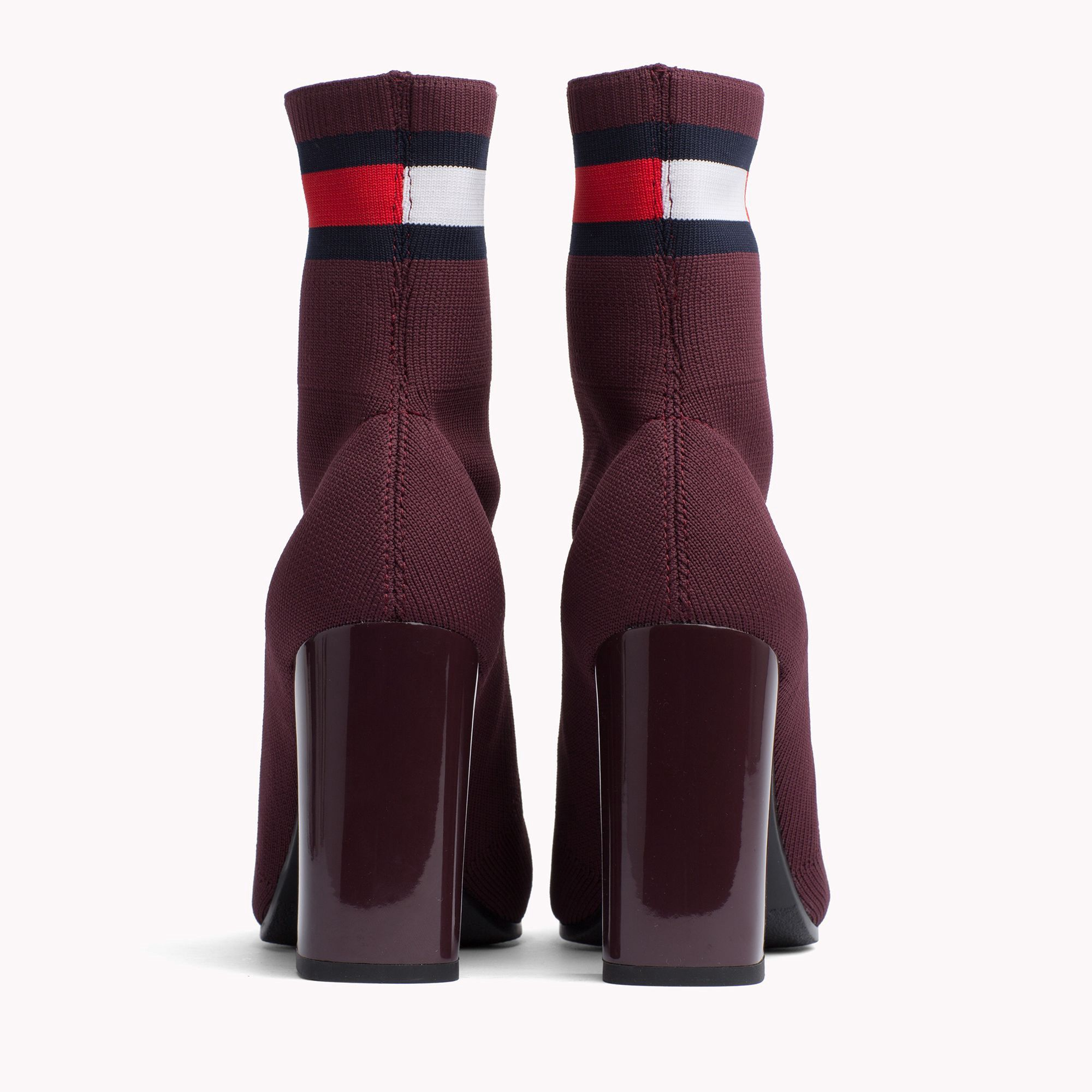 16c171362dcb2 Tommy Hilfiger Sock Heeled Boot - Black 8.5
