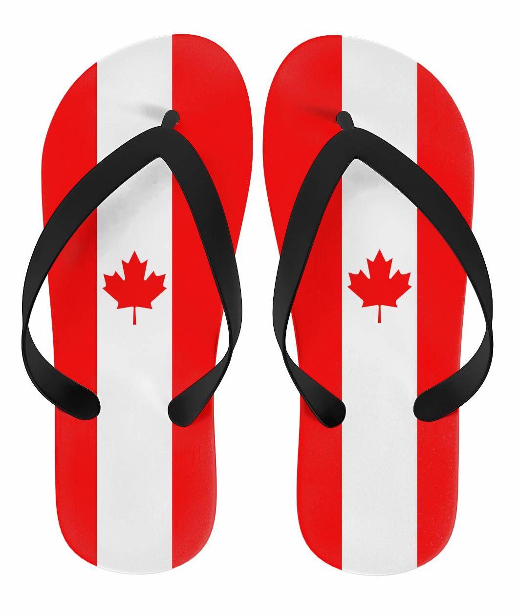 86dc56be6a242f  Canada Love Flip Flops -  Canadian Flag.  CanadaLove