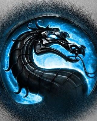 Mortal Kombat Stone Dragon Blue Background Mortal Combate