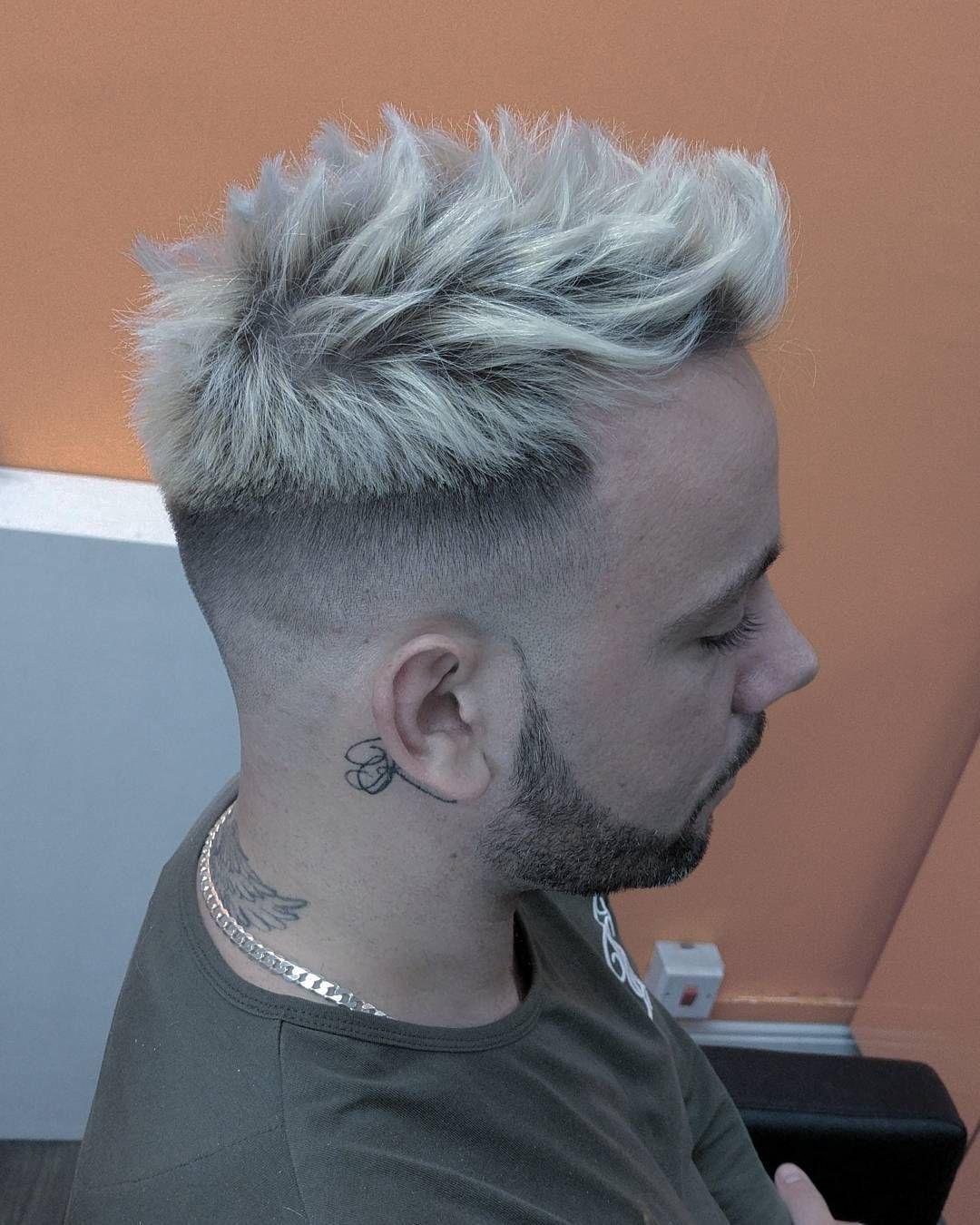 Fade with blonde textured hair styles hair pinterest hair