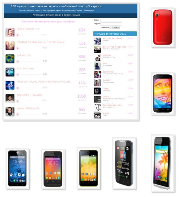 Простые и короткие или прикольные мелодии на телефон alcatel.