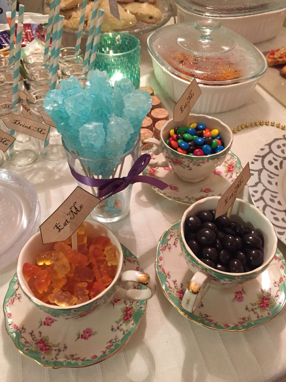 mad hatter teparty invitations pinterest%0A Mad Hatter u    s tea party inspired by Alice in Wonderland  candy in teacups