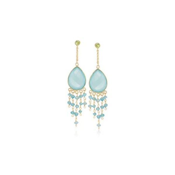 Ocean green chalcedony 40ct tw peridot chandelier earrings ross simons ocean green chalcedony and ct peridot chandelier earrings in yellow gold over sterling mozeypictures Choice Image