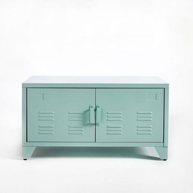 Meuble bas 2 portes en m tal hiba portes en m tal meuble bas et r duction la redoute - Reduction meuble la redoute ...