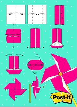 Origami Con Notas Post It Rehilete Click A La Imagen Para