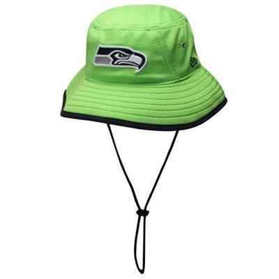 New Era Seattle Seahawks Team Bucket Hat - Neon Green  44b0a593bbd