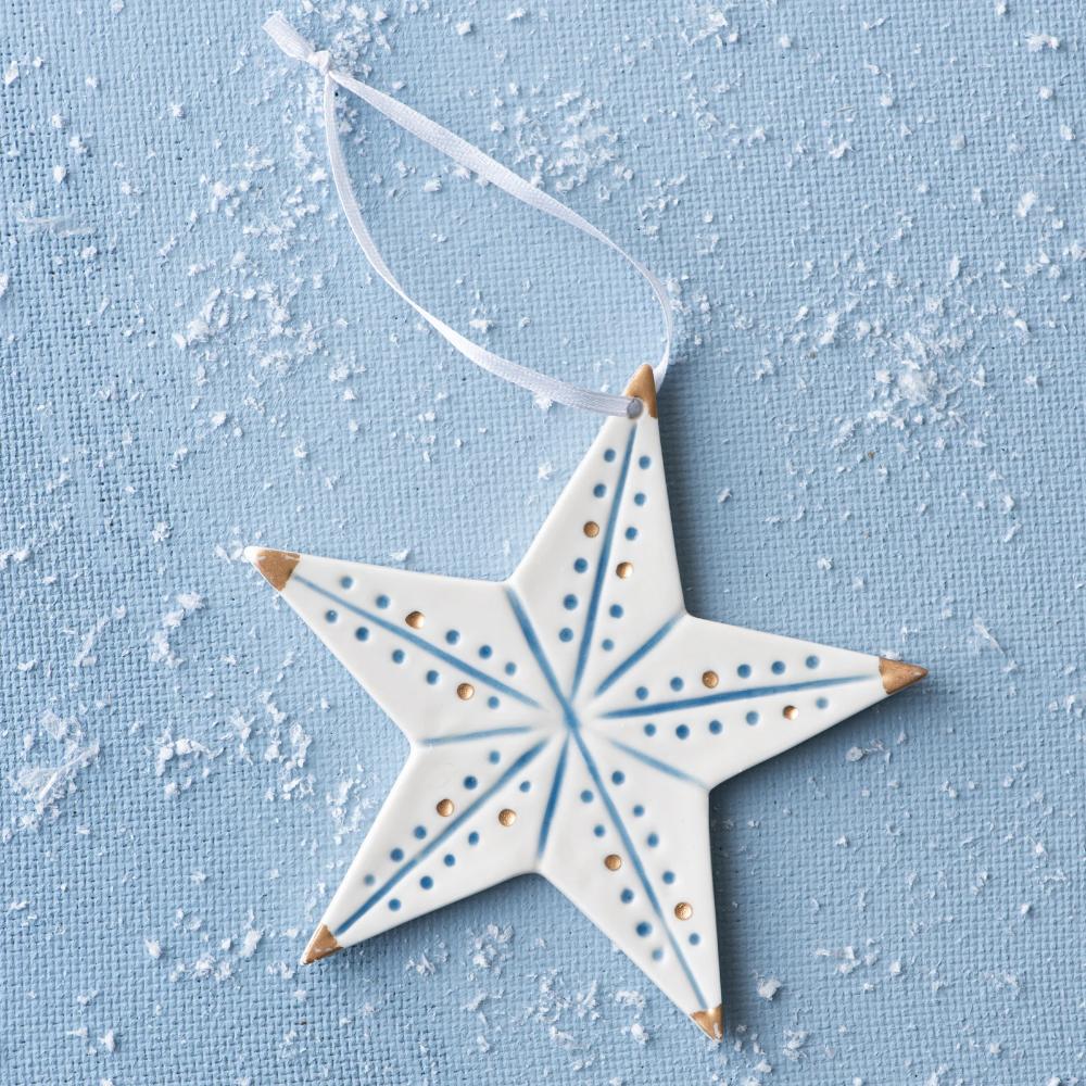 Blue White Ceramic Star Ornament Ceramic Christmas Decorations Clay Christmas Decorations Diy Christmas Star
