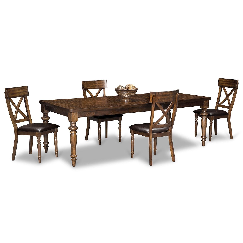 Fine Alamo 5 Pc Dinette Value City Furniture Perfect For Ibusinesslaw Wood Chair Design Ideas Ibusinesslaworg