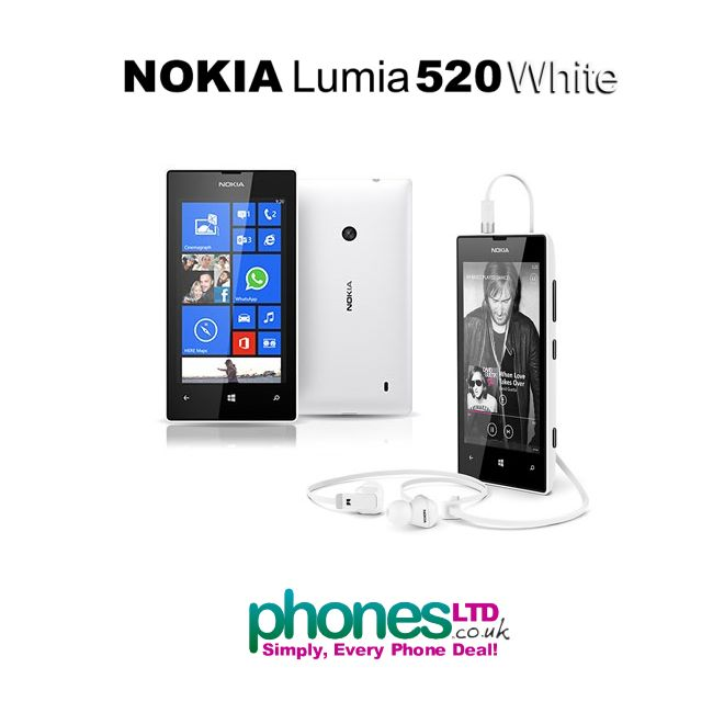 The fun and affordable Nokia Lumia 520 looks stunning in White!  Check out the cheapest contract deals, pay as you go offers and SIM free prices here: https://www.phonesltd.co.uk/Nokia/Lumia_520_White_Deals.html #nokialumia520whitedeals #nokialumia520whitecontracts #lumia520whitebestdeals #lumia520whiteprices #lumia520whitecheapdeals