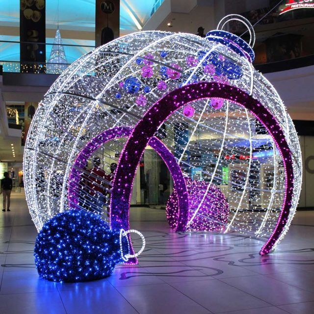 Led red balls shopping mall christmas decorations christmas lights decoration and fun diy crafts