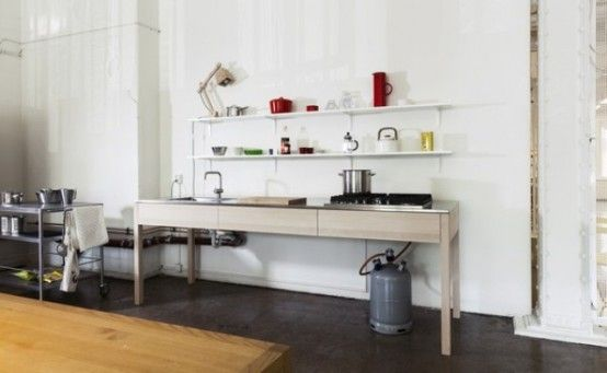 Simple Handmade Wooden Kitchens By Carpenter Collective | DigsDigs