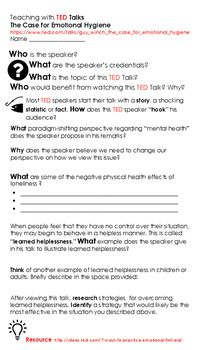 This Ted Talk Worksheet Is Intended To Be Used With Why We