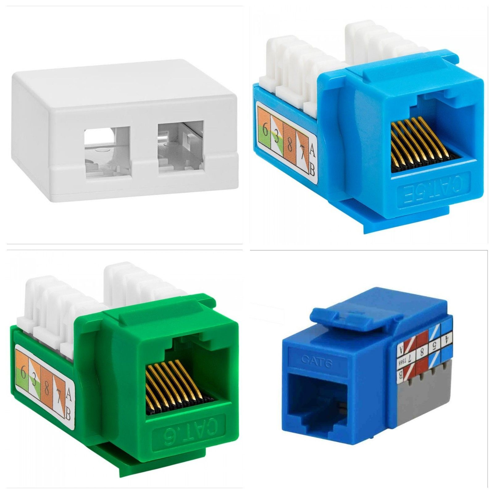 Most Rated Accessories 2 Port Keystone Jack Cat5e Wire Diagram Jacks Cat6 Available In Multiple Colors