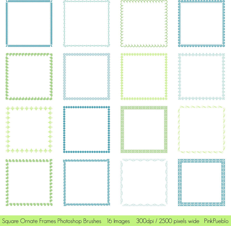 Square Frame Photoshop Brushes | Frames | Pinterest | Border ...