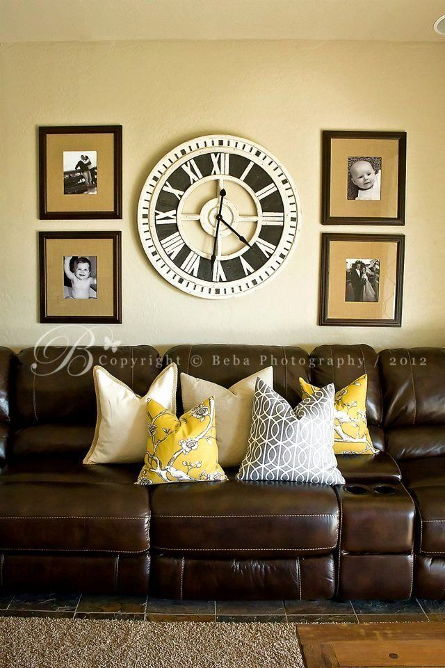 Brown And Black Living Room Designs: Brown And Yellow Living Room Idea New Dark Brown Couch