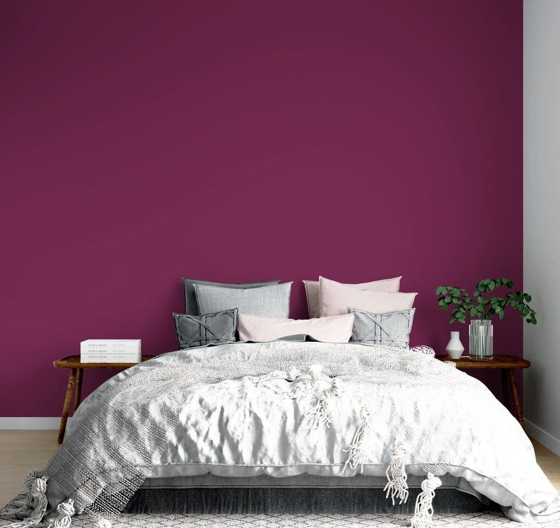 Peel And Stick Wallpaper Wine Solid Color Wallpaper For Home Decor Peel And Stick Wall Sticker Self Adhesive Bedroom Wallpaper Nwc17 Home Wallpaper Decorating Your Home Wallpaper Bedroom