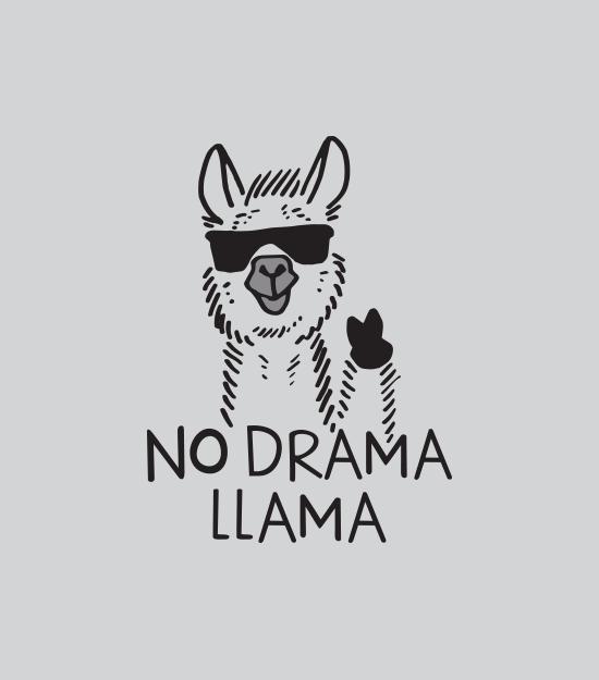 """No Drama Llama"" t-shirt.  Graphic tees for men, women and kids"