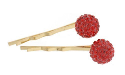 Bobby Pin - hpi0039 - red by LongHairGirl. $14.99. Imported. Rhinestone. Decorated with Swarovski crystals. This set of SWAROVSKI CRYSTAL pins measure approximately 1.75 inches long.