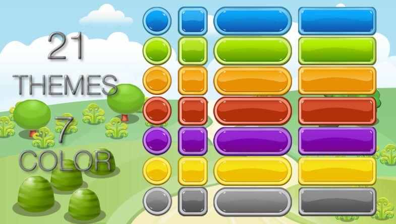 4200 UI Buttons - Cartoon GUI Pack #sponsored#3d Buttons#UI
