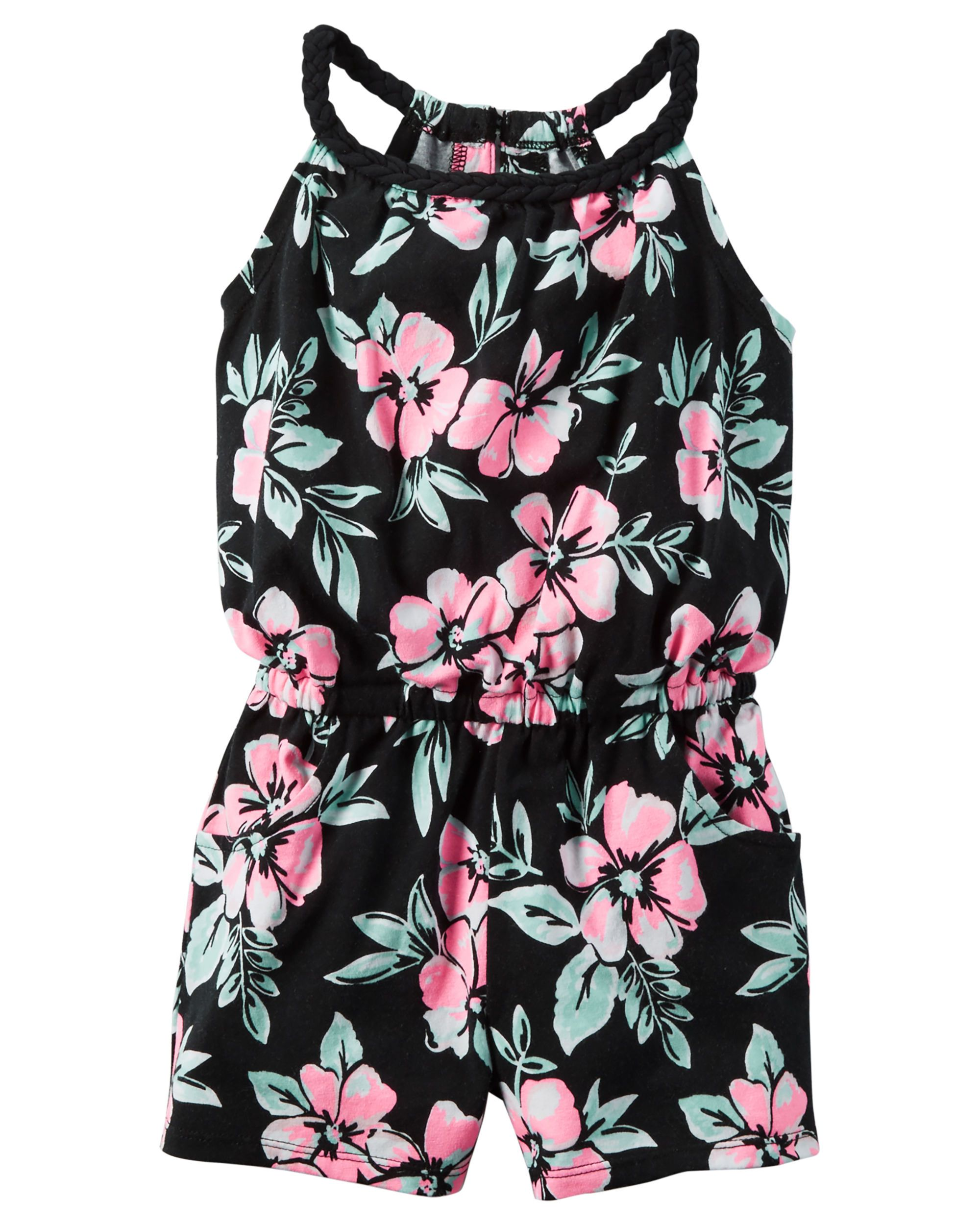 96fff5def14b Kid Girl Floral Jersey Romper