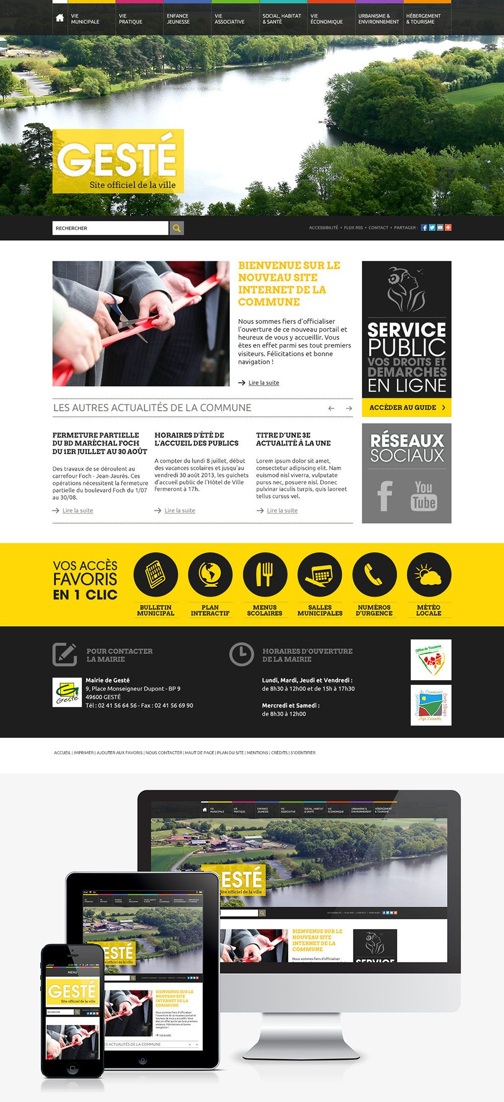 #Webdesign #Responsive #Mairie #Ville #Colterr: le nouveau site web de la mairie de Gesté (49) http://www.mairie-geste.fr