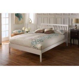 15499 Limelight Ananke White Wooden Bed Frame Furniture Bed