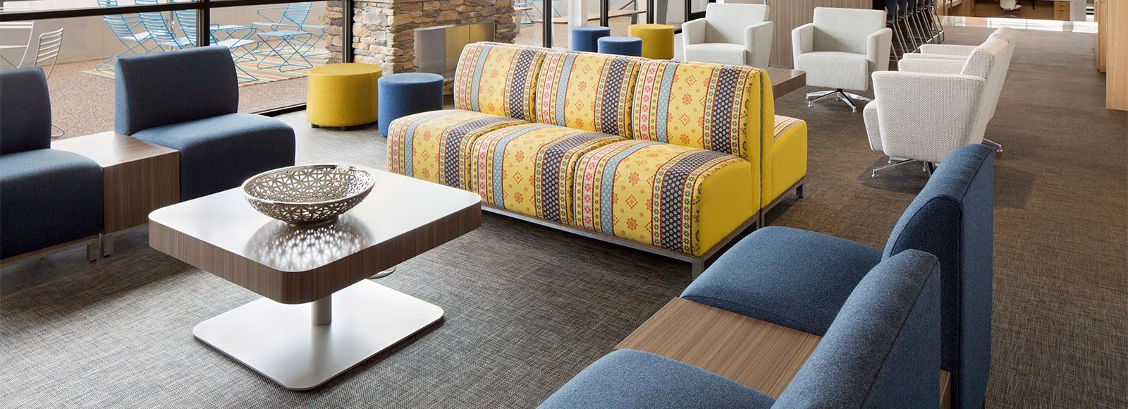 National office furniture headquarters chose innovative custom national office furniture headquarters chose innovative custom chilewich biofelt backed floor tiles in basketweave brushed dailygadgetfo Images