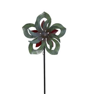 Blossom Kinetic Decorative Wind Art Spinner | Overstock™ Shopping - Great Deals on Garden Accents