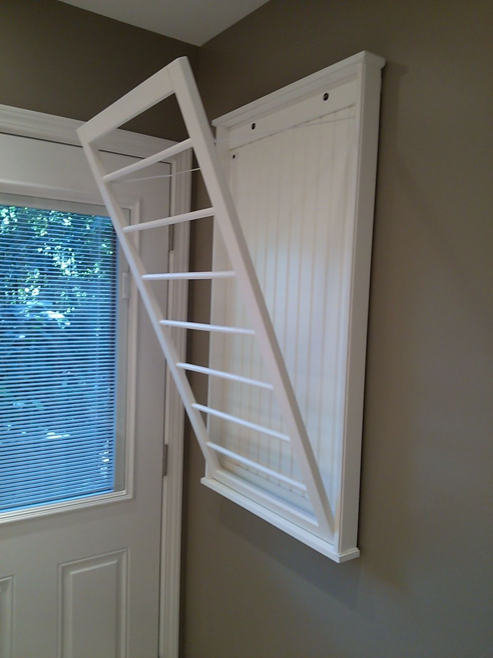 Laundry room wall mounted clothes drying rack łazienka pinterest