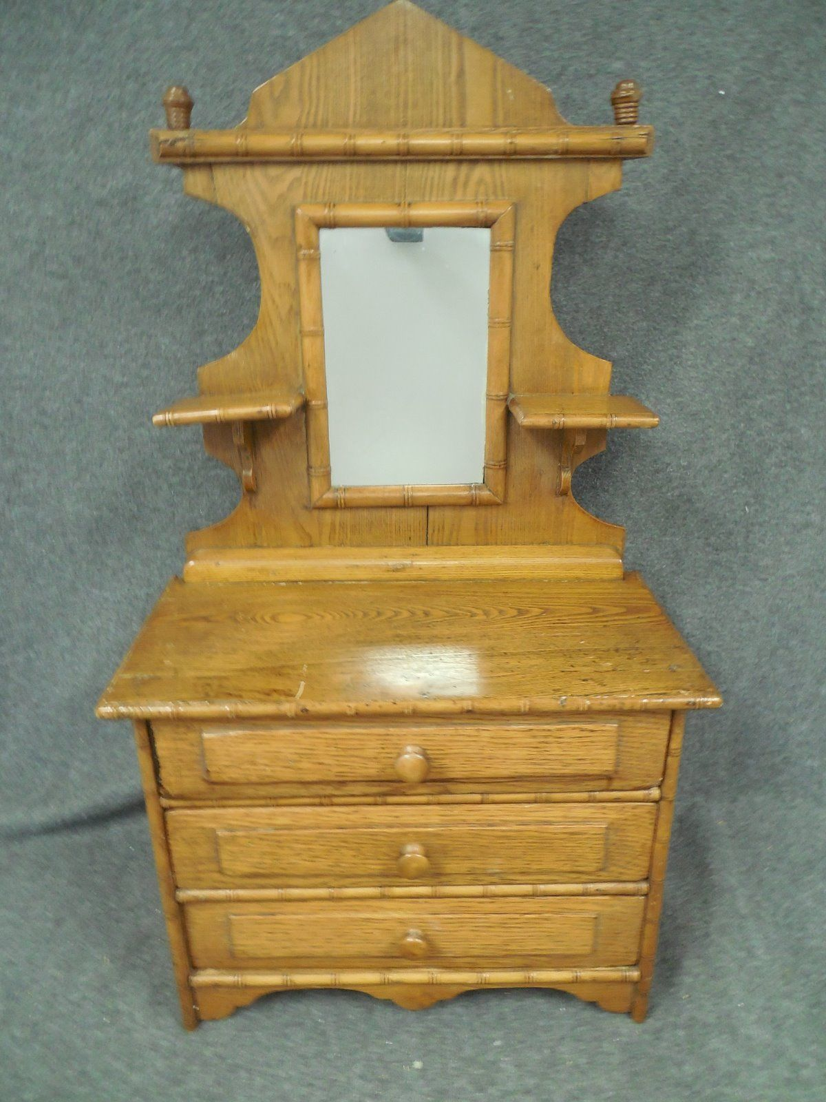 Victorian Mirror Doll Dresser With Candle Shelves C1886 Museum Donation