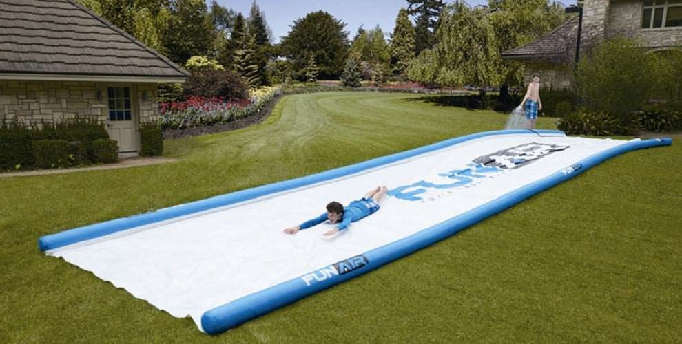 Portable 50-ft slide lets you have a mini water park right ...