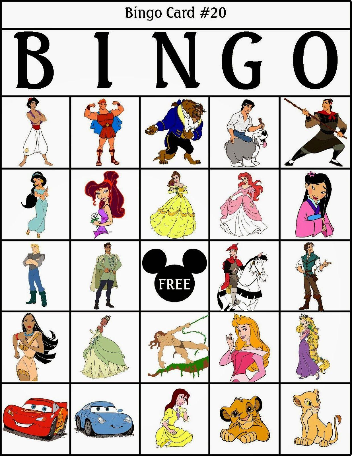 Bingo De Personajes Disney Para Imprimir Gratis Adorable Disney