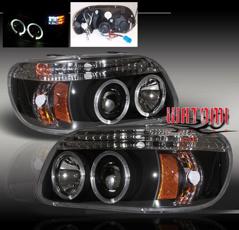 Ad Ebay 95 01 Ford Explorer Led Projector Headlight Black 98 99 Led Projector Projector Headlights Ford Explorer