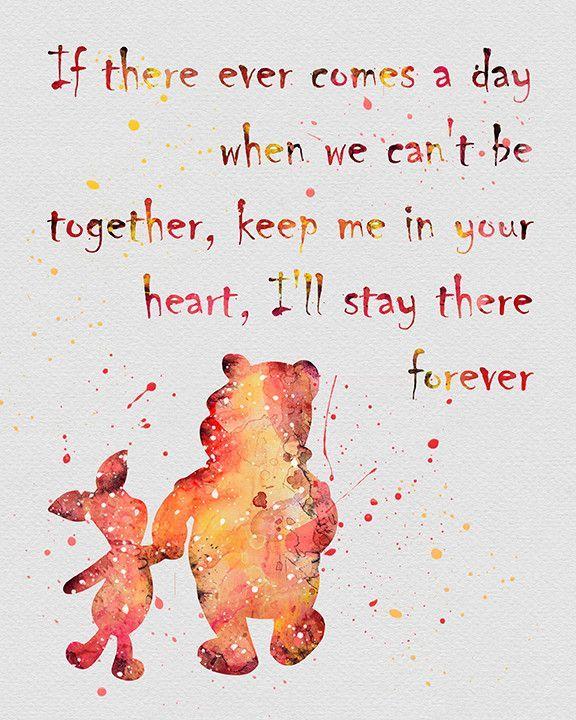 Winnie The Pooh Quote Watercolor Art Print Freundschaft